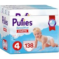 Pufies Pants Sensitive Maxi Bugyipelenka, 4-es méret, 9-15 kg, 138 darab