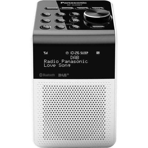 Fotografie Radio digital Panasonic RF-D20BTEG-W, ceas, alarma, FM, BT, 3W, RDS, IPX3, LCD
