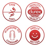 Durex Feel Thin Slim Fit Óvszer, 10 darab