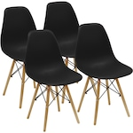 Комплект 4 стола Kring Kai, PP, Черен