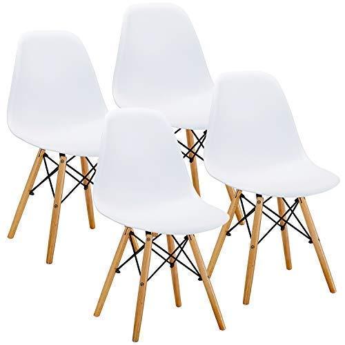Fotografie Set 4 scaune dining Kring Kai, PP, Alb