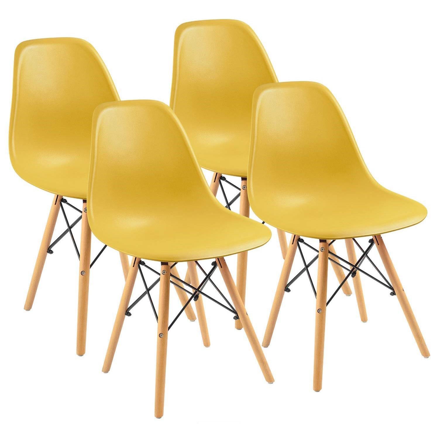 Fotografie Set 4 scaune Kring Kai, PP, Galben