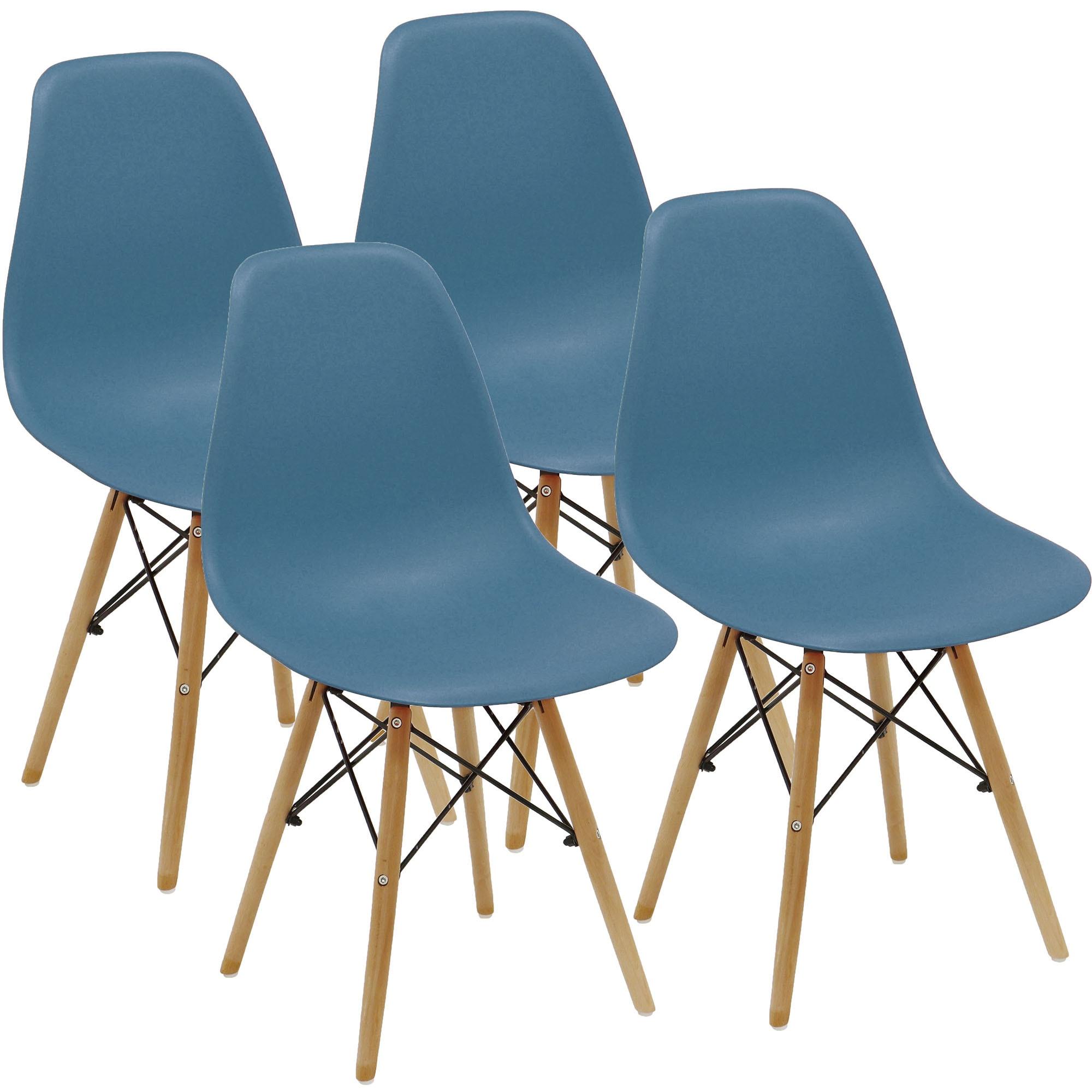 Fotografie Set 4 scaune Kring Kai, PP, Albastru