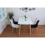 Kring Memphis Négyszögletes asztal, MDF + Fa, Fehér