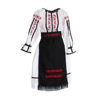 Costum popular fete- Daciana - 4 piese, marimea 140
