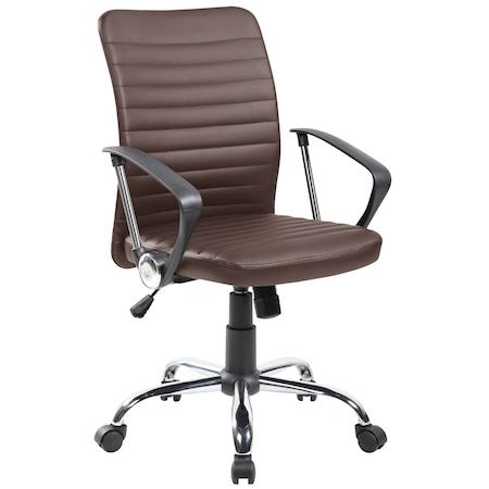 Scaun de birou ergonomic Kring Eron, PU, Maro