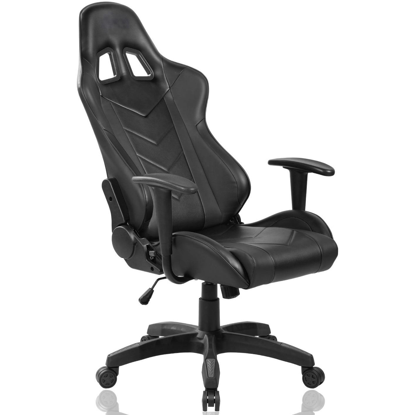 Kring Sigrid Gamer szék, Deréktámasz és fejtámla, PU, Fekete