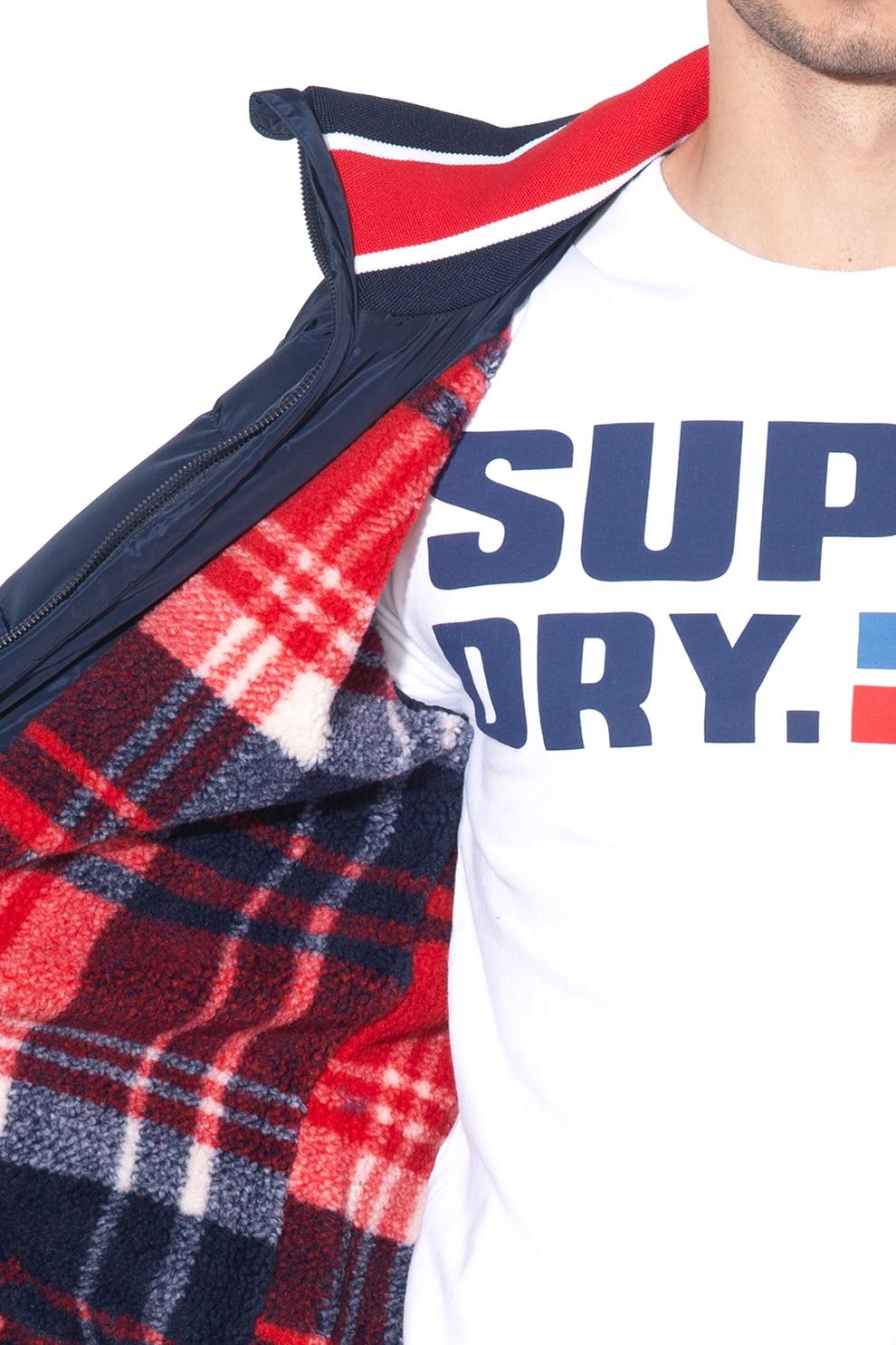 SUPERDRY, Icon bélelt télikabát hímzett logóval