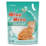 Asternut igienic pentru pisici Miau-Miau, Silicat, 3.8L