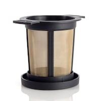 Постоянен метален /златен/ филтър за чай, размер М, Finum, код Ч08