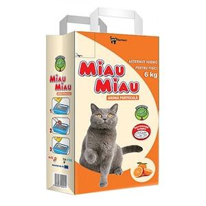 Пясък за котки Miau-Miau, Аромат на портокал, 6 кг