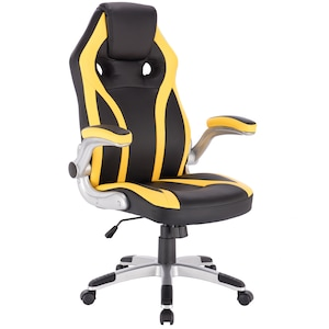 Офис стол Kring Alera, PU, Черен/Жълт
