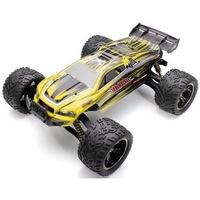 XLH 9116 profi Truggy Racer 2WD 40km/h nagy sebességű 1:12 34cm RC távirányítós autó (40 km/h Truggy Racer versenyautó, magyar nyelvű útmutatóval) - sárga