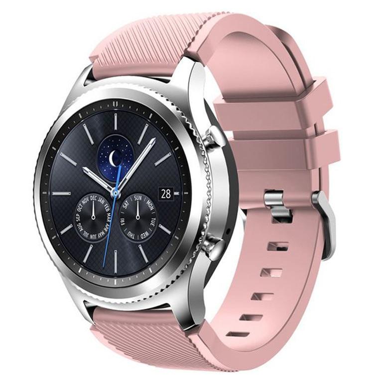 Samsung okosóra szíj, Gear S3 iUni 22 mm Nylon Sport, Mályvaszínű Elektromos Rózsaszín