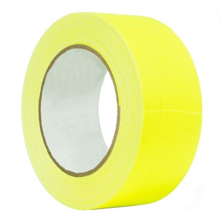 ProCart® ragasztószalag, sárga, textil, neon fluoreszkáló, tekercs 25 m, 2,5 cm széles, vízálló