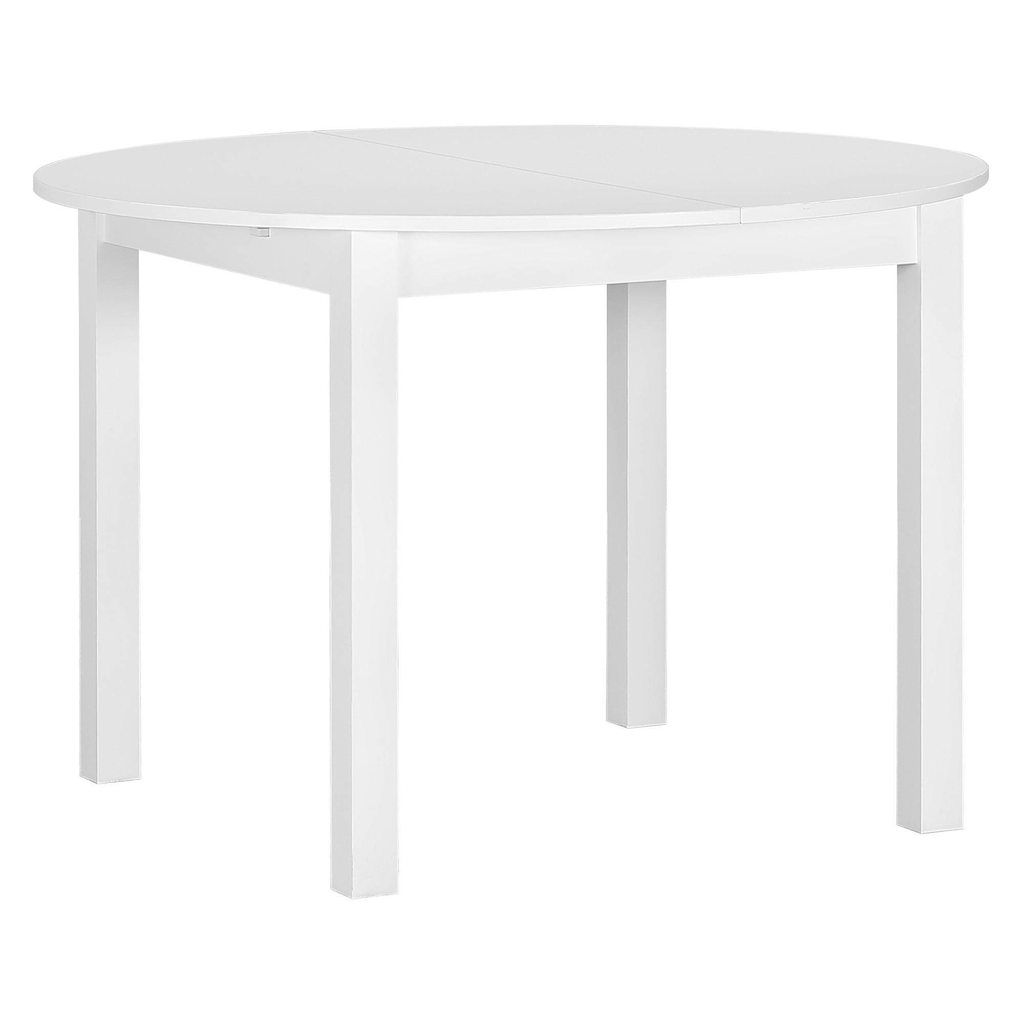 Fotografie Masa extensibila Kring Round, 110/150 x 75 x 110 cm, alb