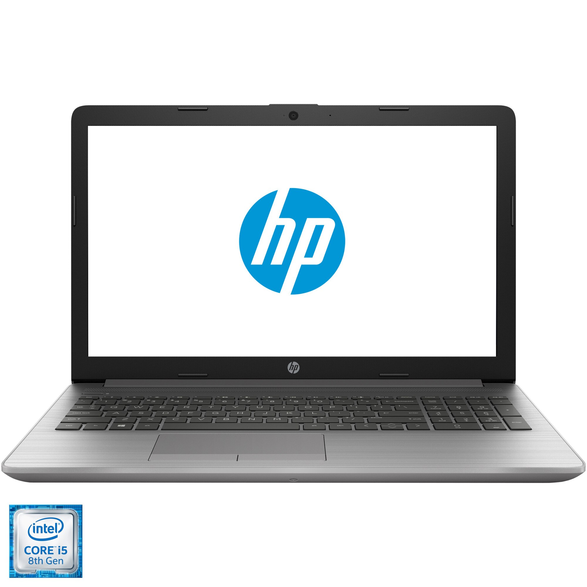 "Fotografie Laptop HP 250 G7 cu procesor Intel® Core™ i5-8265U pana la 3.90 GHz, Whiskey Lake, 15.6"", Full HD, 8GB, 1TB HDD, DVD-RW, Intel UHD Graphics 620, Free DOS, Silver"