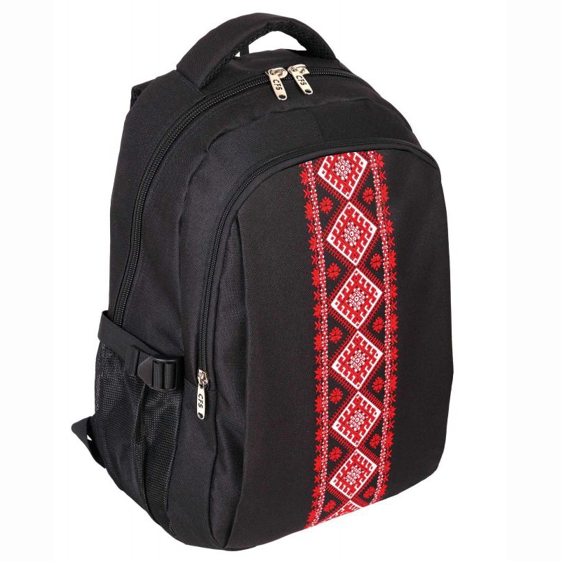 Fotografie Rucsac Cool For School, 2 compartimente, suport laptop, 44x31x13 cm, Negru/Rosu