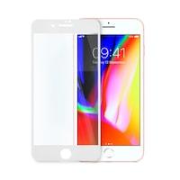 5D стъклен протектор за целият дисплей за iPhone 8, Цяло лепило, Бял