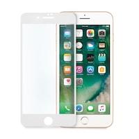Иновативен стъклен 5D протектор за целият дисплей за iPhone 7, Цяло лепило, Бял