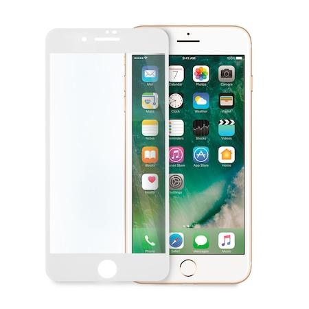 Стъклен Протектор за iPhone 7/8, 9D Технология, Full Glue, Full Cover, Бял.