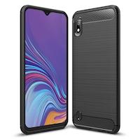 Силиконов калъф Carbon Fibre Brushed за Samsung A10 2019 , Черен