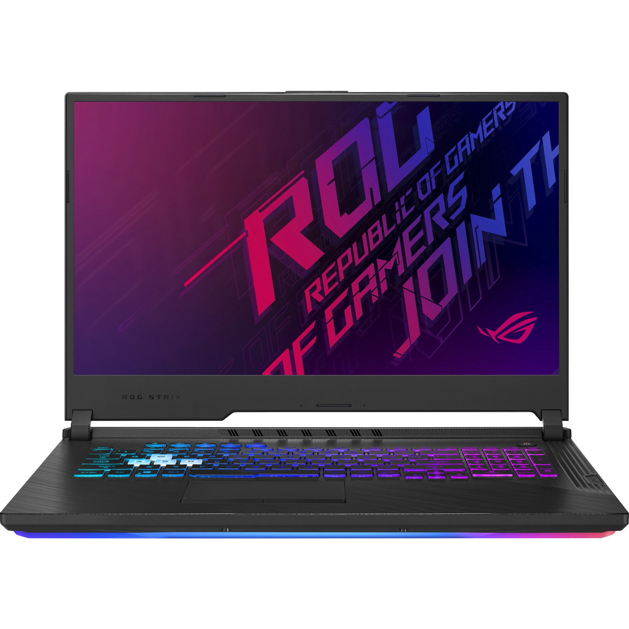"Fotografie Laptop Gaming ASUS ROG Strix G G731GT cu procesor Intel® Core™ i7-9750H pana la 4.50GHz, 17.3"", Full HD, Antiglare, 8GB, 1TB HDD, NVIDIA® GeForce GTX 1650 4GB GDDR5, Free DOS, Black"