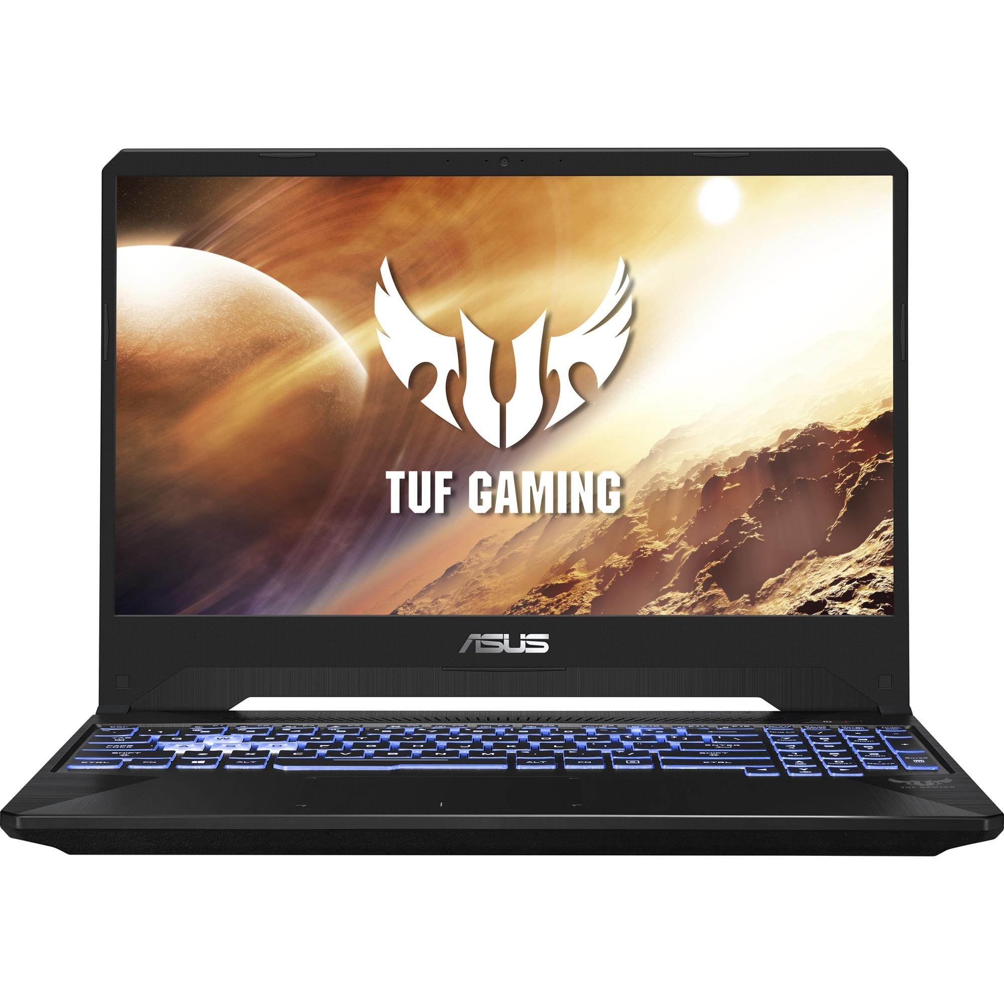 "Fotografie Laptop Gaming ASUS TUF FX705DT cu procesor AMD Ryzen 5 3550H pana la 3.70 GHz, 17.3"", Full HD, IPS, 8GB, 512GB SSD, NVIDIA GeForce GTX 1650 4GB, Free DOS, Stealth Black"