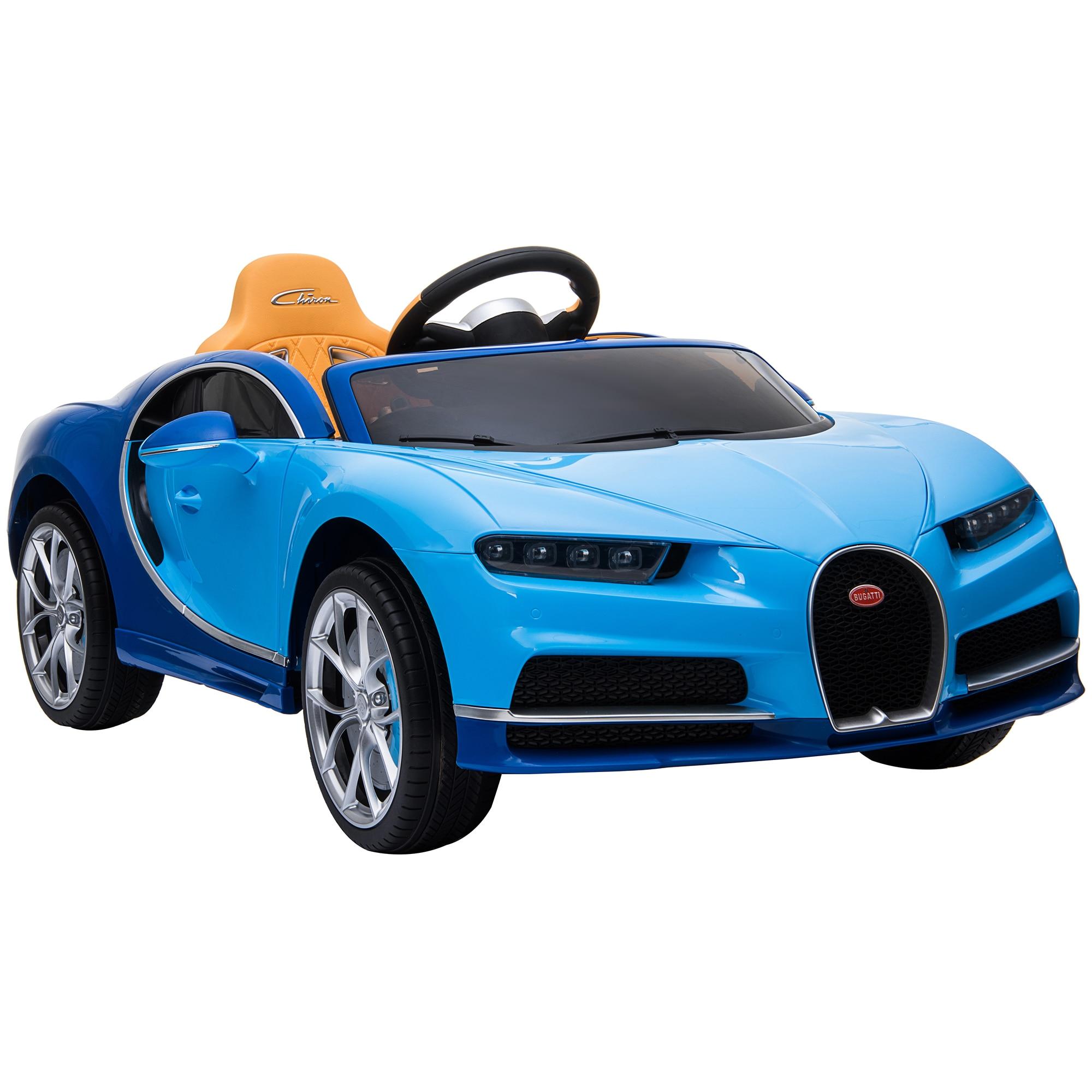 Fotografie Masinuta electrica pentru copii, Mappy Bugatti Chiron, Albastru/Negru