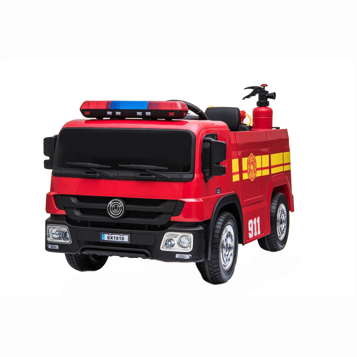 Fotografie Masinuta electrica pentru copii, Mappy - Pompieri