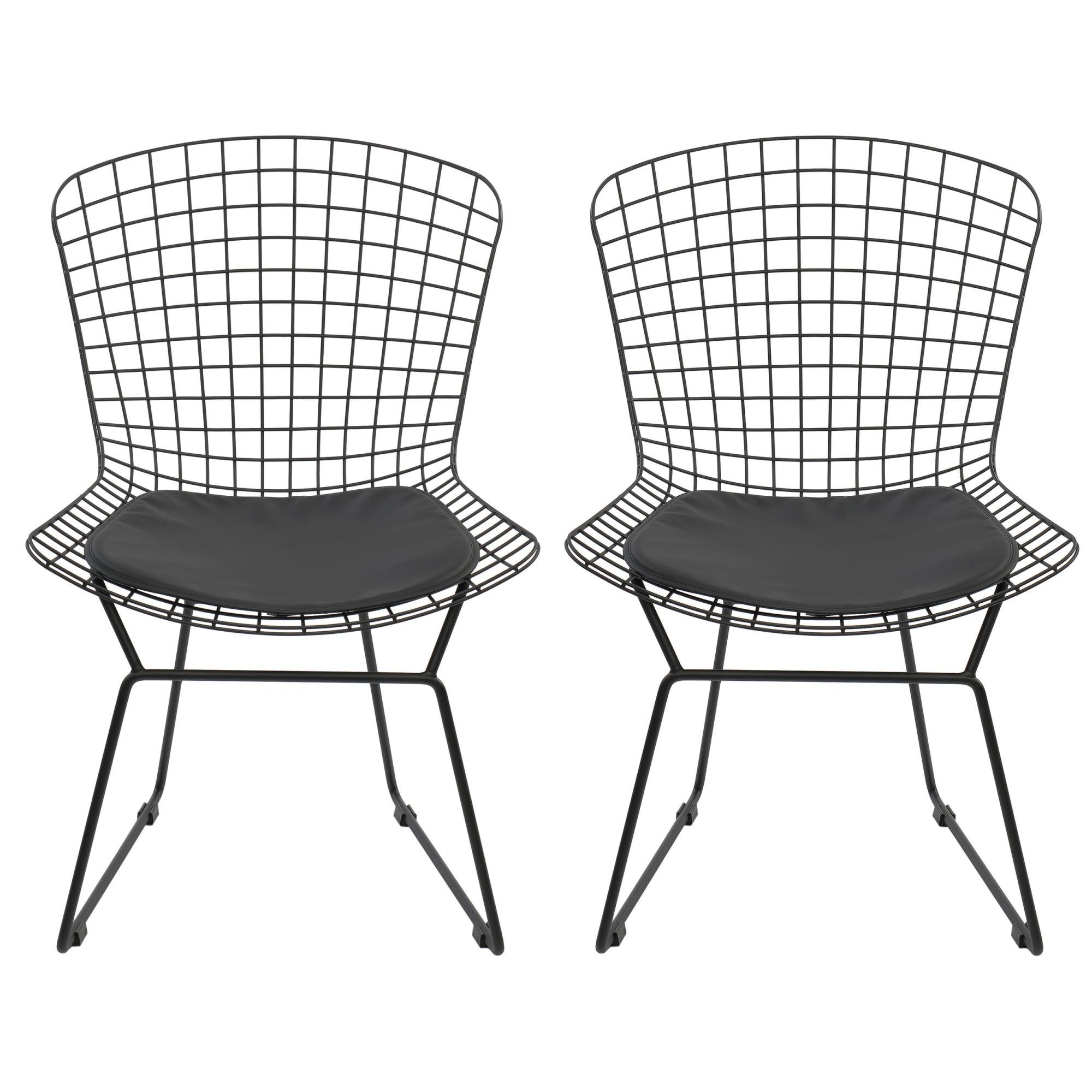 Fotografie Set 2 scaune dining / cafenea Kring Brighton, metal, Negru