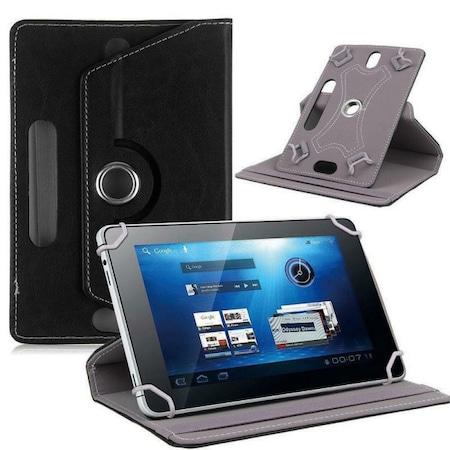 Univerzális tablet tok / forgatható tablet tartó - fekete, 10 colig