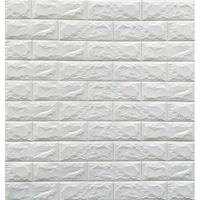 Tapéta DEGRETS 98001 Öntapadós 3D Tapéta Tégla fehér, Méret: 70cm x 77cm x 6mm