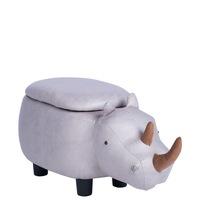 Детска табуретка Carmen носорог, сив