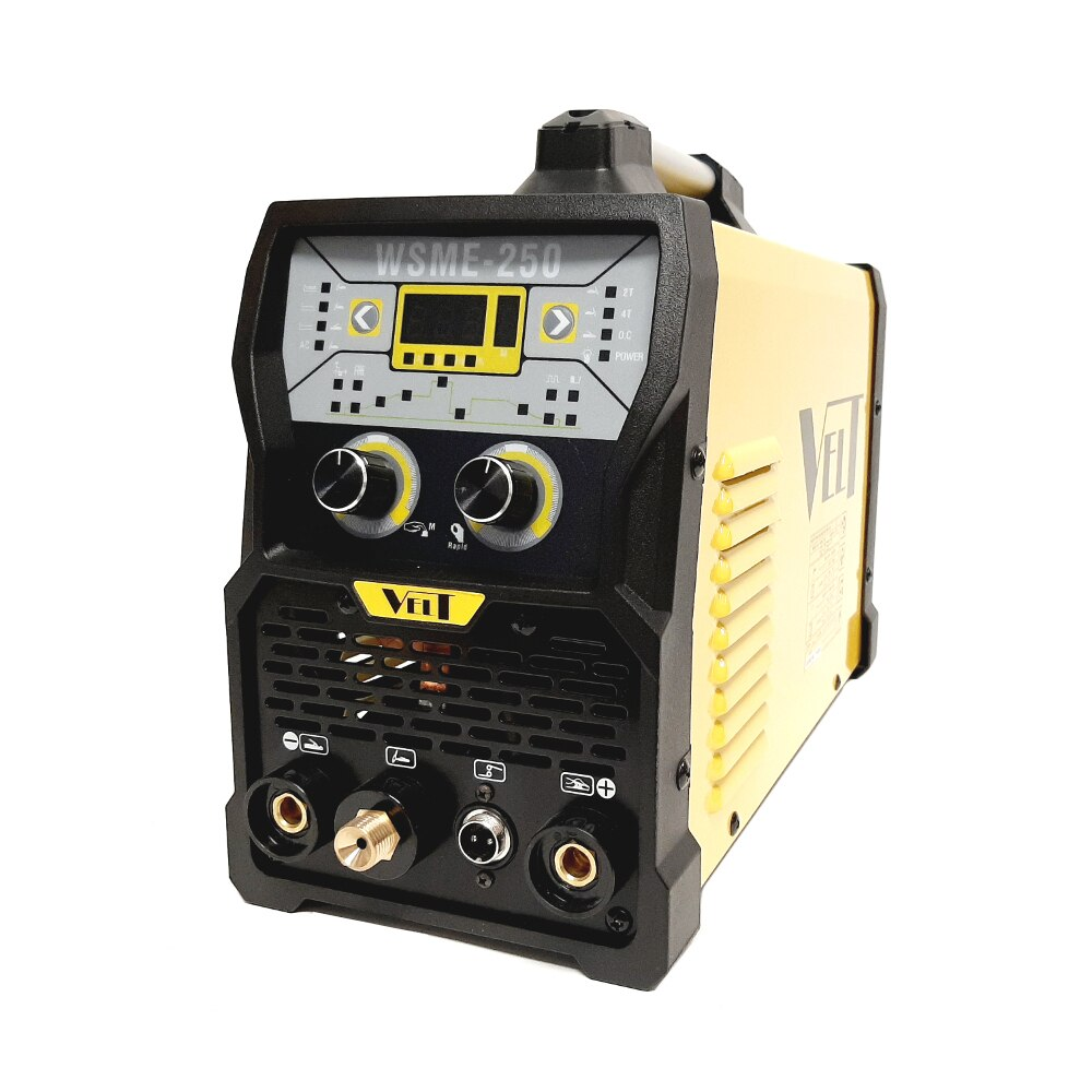 Fotografie Invertor Digital Velt WSME 250 230V TIG/MMA (AC/DC) Aluminiu