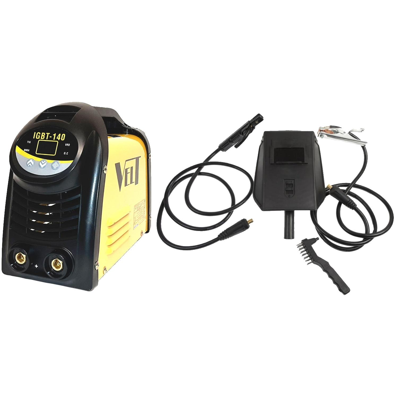 Fotografie Invertor sudura DC Profesional Velt IGBT 140, 140 A, 230 V, 4500 W, 1.6-3.2 mm diametru electrozi, functie lift TIG, VRD, masca sudura, perie cu ciocan pentru zgura, cablu sudura