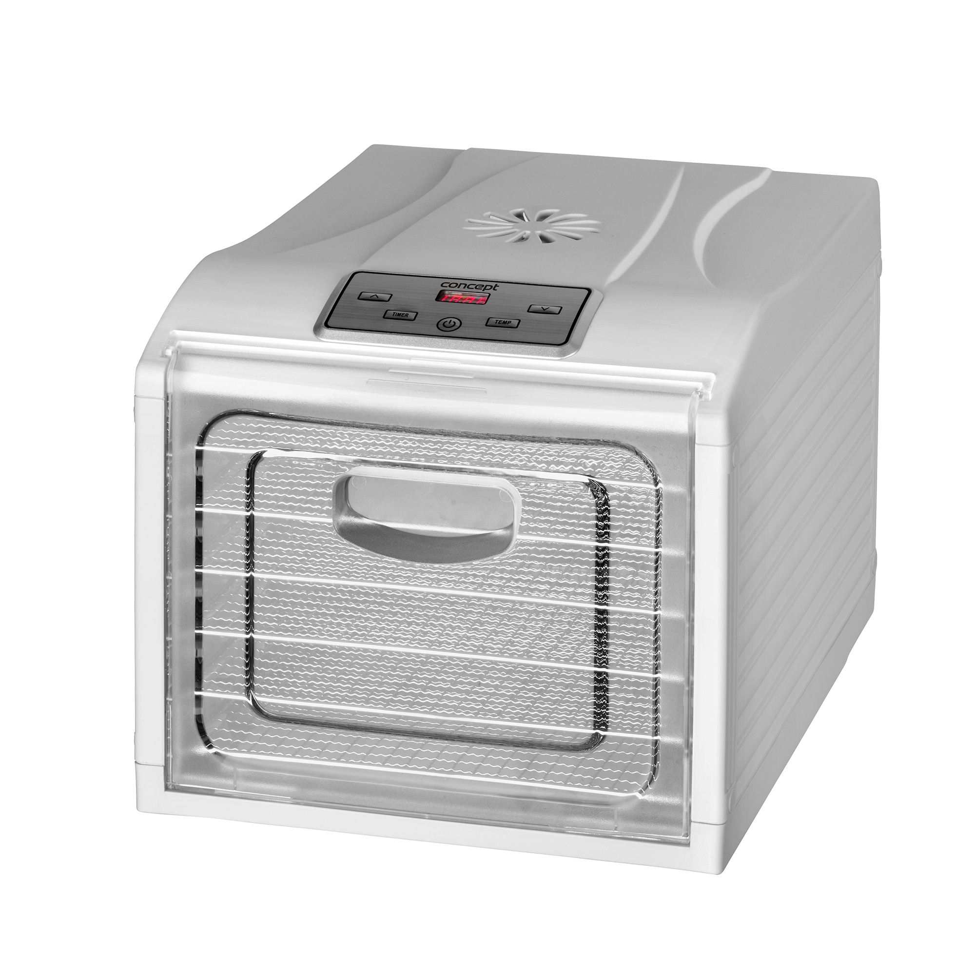 Fotografie Deshidrator de alimente Concept SO2050, 500 W, 6 tavi inox, 30 x 33 cm, timer, Alb