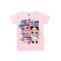 LOL Surprise mintás rövid ujjú lány póló 10 év - 140 rózsaszín
