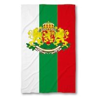 Плажна кърпа 3 Digital Limited с дигитален печат, Знаме България с герб 140x70cm