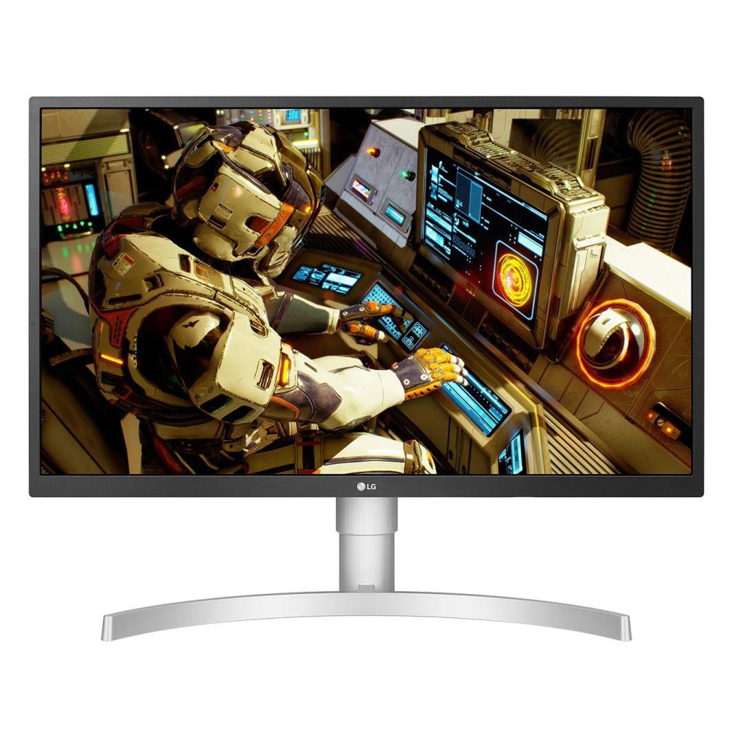 "Fotografie Monitor gaming LED IPS LG 27"", 4K UHD, DisplayPort, FreeSync, HDR 10, Vesa, Alb, 27UL550-W"