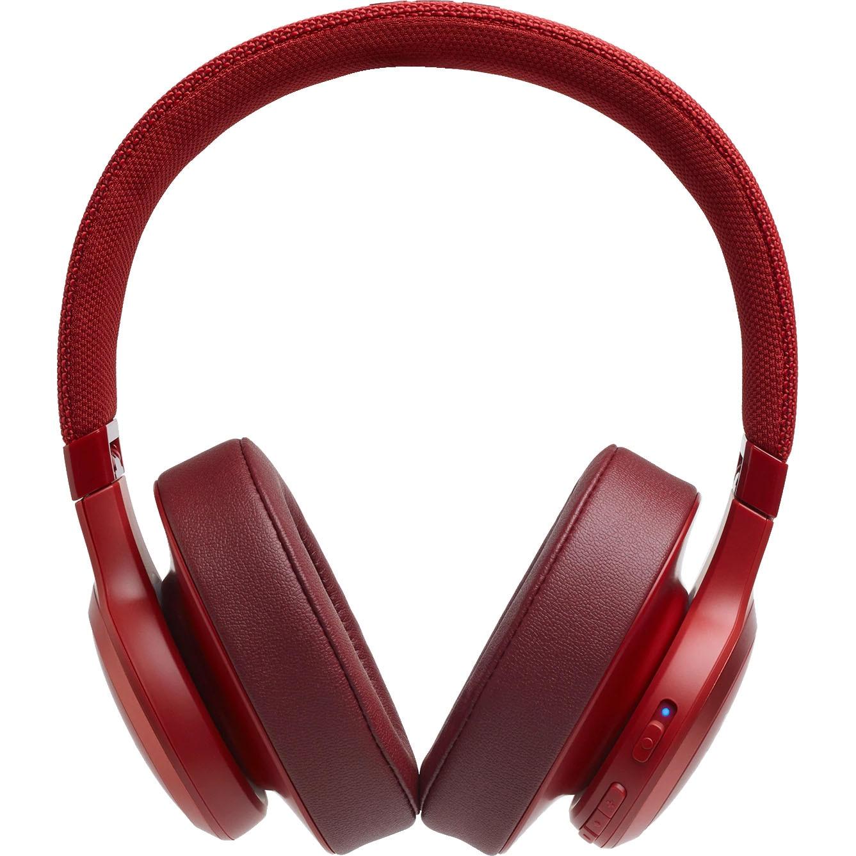 Fotografie Casti Over-Ear JBL LIVE500BT, JBL Signature Sound, Voice Assistant, Bluetooth Wireless, TalkThru Technology, Hands-free calls, 30h playback, rosu
