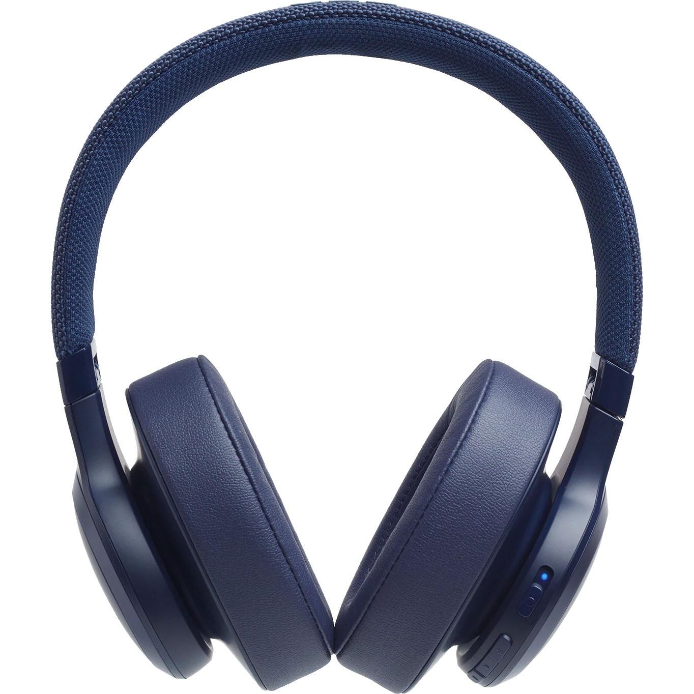 Fotografie Casti Audio Over the Ear JBL Live 500, Wireless, Bluetooth, Autonomie 30 ore, Albastru