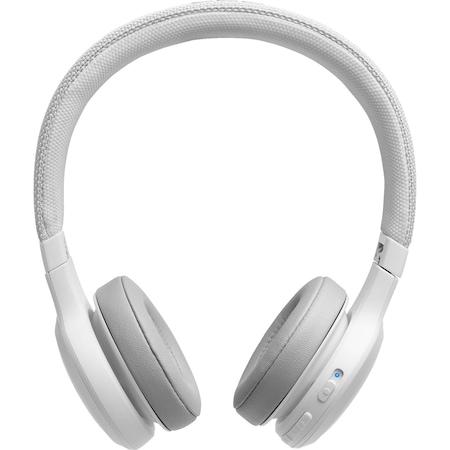 JBL LIVE 400BT Vezeték nélküli fejhallgató, Bluetooth, Fehér