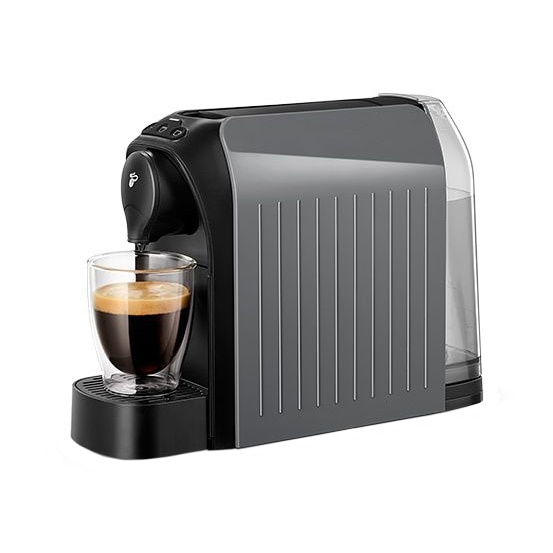 Fotografie Espressor Tchibo Cafissimo easy Grey, 1250 W, 3 presiuni, 650 ml, Espresso, Caffe Crema, sertar capsule, Gri