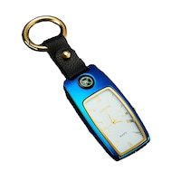 MBrands електронна запалка за цигари против кражба, без газ, USB зареждане, с компас, часовник и фенерче, синьо
