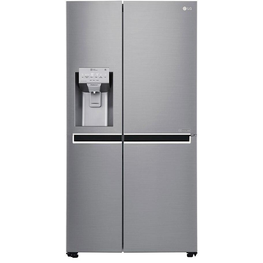 Fotografie Side by side LG GSL961PZUZ, 600 l, Clasa A++, No Frost, Dispenser apa, Compresor Liniar Inverter, WiFi, Smart Diagnosis, H 179 cm, Argintiu