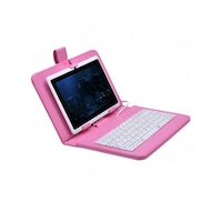 Калъф АТ с клавиатура за Samsung Galaxy Tab A 8.0 SM-T350, розов