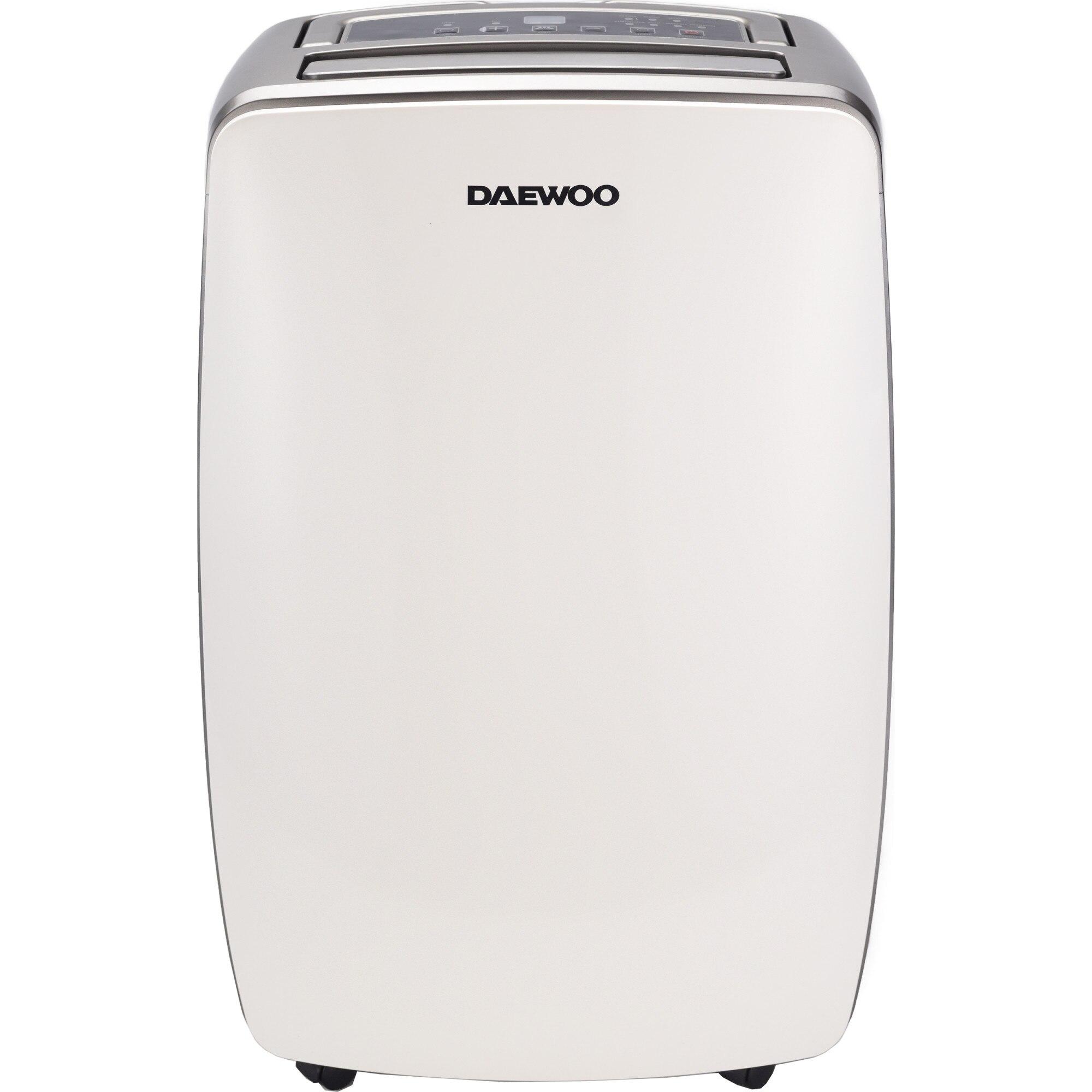 Fotografie Dezumidificator Daewoo DDH20W, 20 l/24h, 350 W, capacitate recipient 5.5 litri, filtru lavabil, timer 24h, suprafata dezumidificare 40 mp, display Led