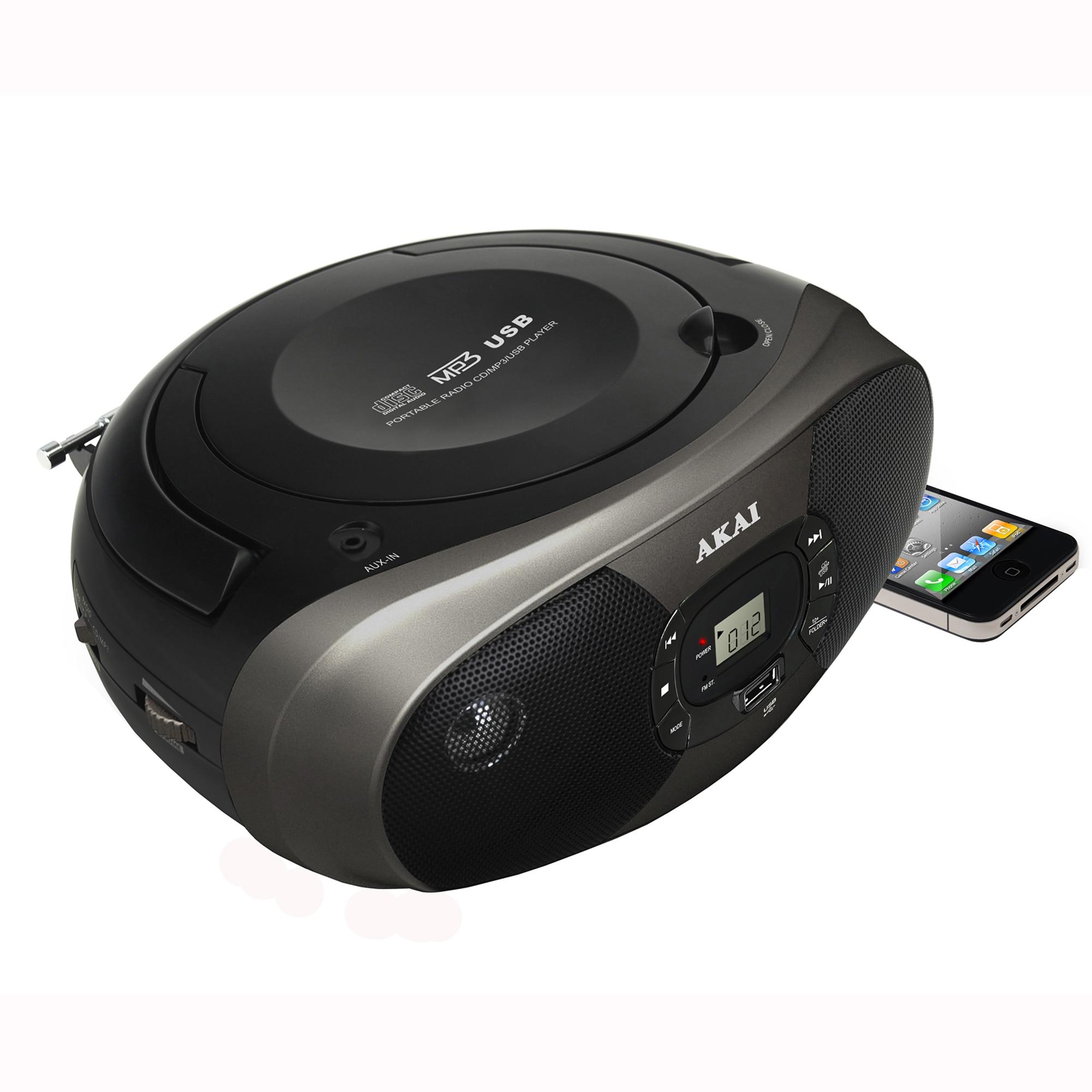 Fotografie Microsistem audio AKAI BM004A-614, CD-Player, Radio, USB, 2x1W