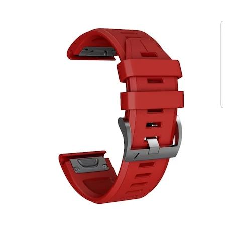 Каишка SPulse за часовник smartwatch Garmin Fenix 5x pluse / Цвят червен